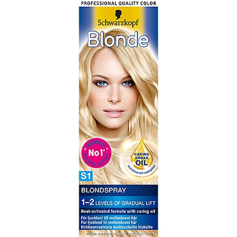 Mellanprodukten: Schwarzkopf Blonde S1 Blondspray