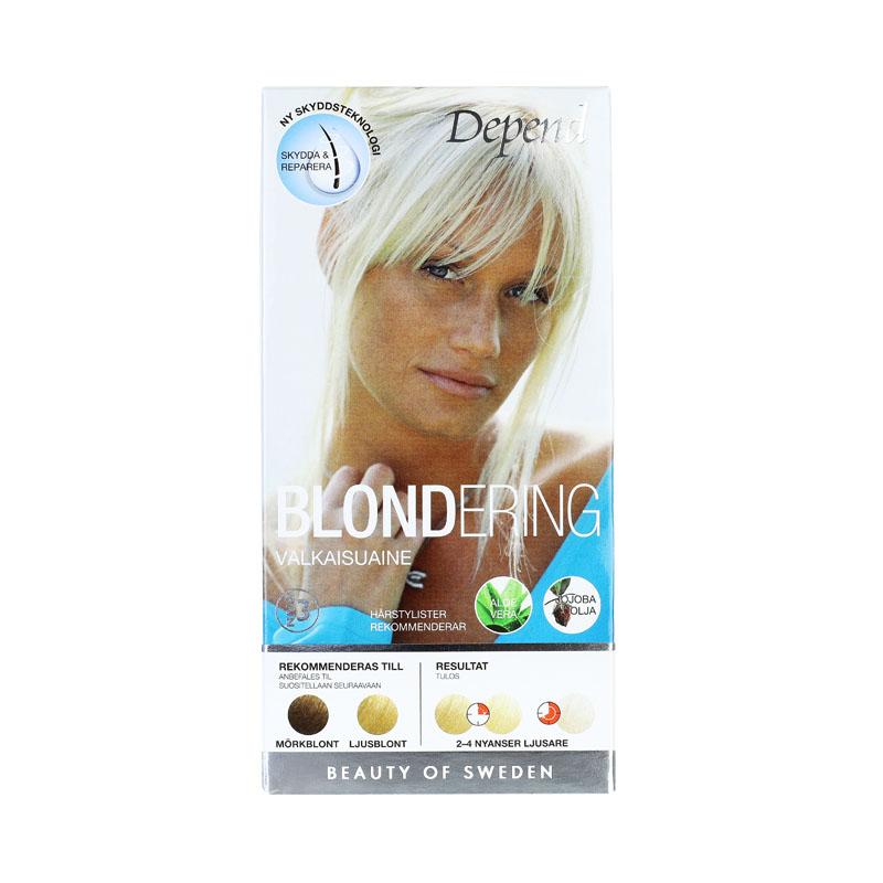 Depend Blondering för hår mörkblondt-ljusblondt