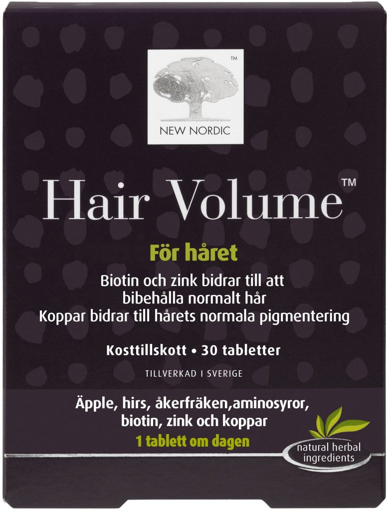 Mellanprodukten: New Nordic Hair Volume Kosttillskott