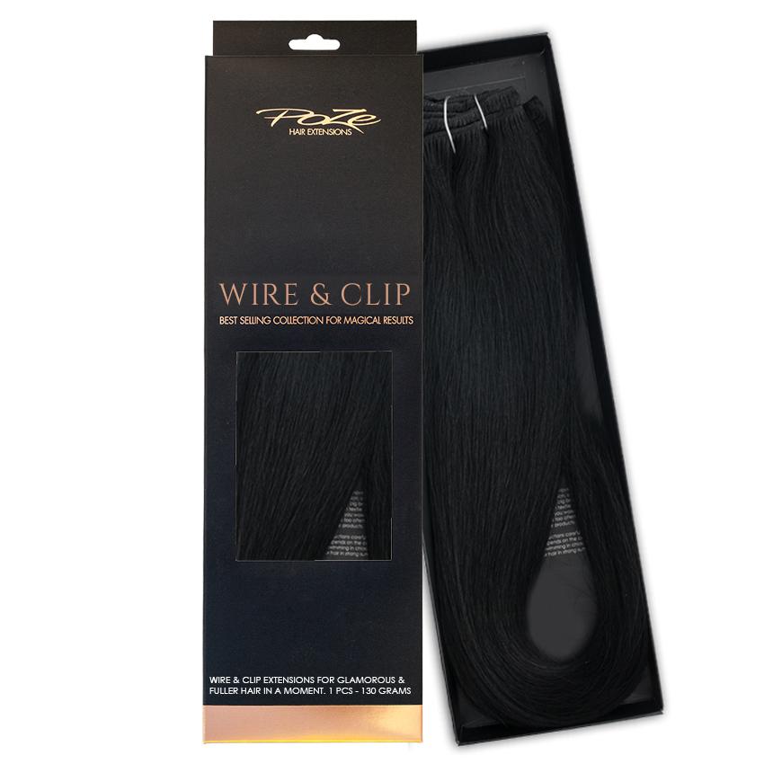 Mellanprodukten: Poze Hairextensions Poze Standard Äkta Löshår Flip & Go 50cm Midnight Black 1N