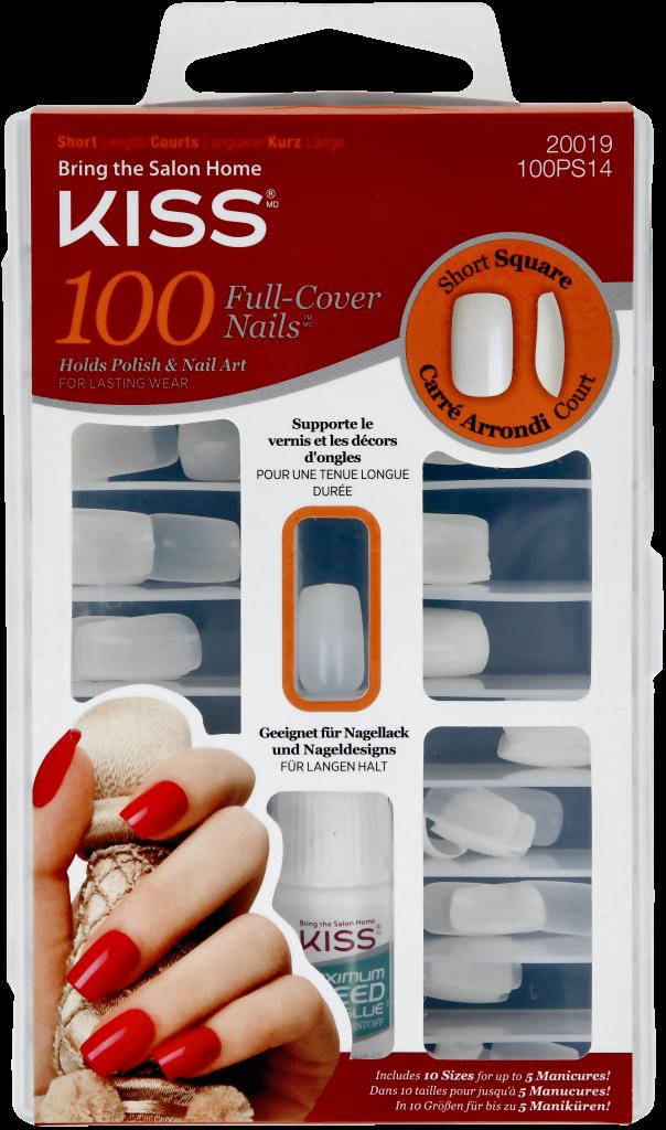 Mellanprodukten: Kiss 100 Nails Short Square