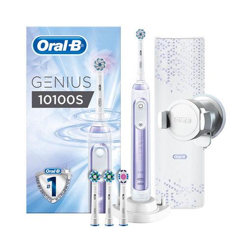 Oral-B Genius 10100S Orchid Purple Eltandborste med 6 borstlägen